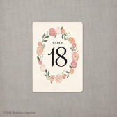Table Numbers - Floral Wreath 2