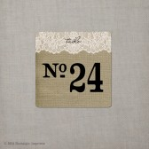 Table Numbers - Burlap & Lace