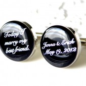 Today I Marry My Best Friend Personalized Cufflinks