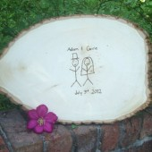 Tree Slice Guest Book
