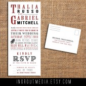 Trifold Invitation with tear-off RSVP
