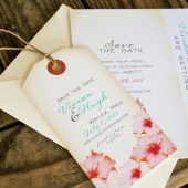 Tropical Save the Date Tag