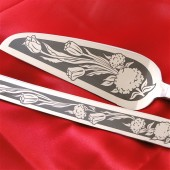 Tulip Wedding Cake Server and Knife