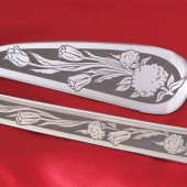 Tulip Wedding Cake Server and Knife set