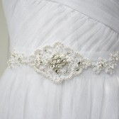 Tulle and Crystal Sash