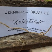 Tie the Knot Save the Date with Twine