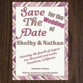 Pulp Sisters Paperie Typographic Save the Date