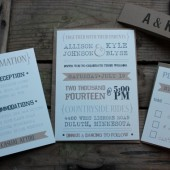 Rustic Typography Country Wedding Invitation