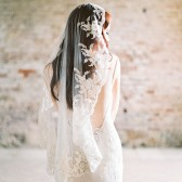 Style 312 - Lace Mantilla Veil by SIBO Designs