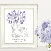 Unicorn Thumbprint Fingerprint Tree Guesbook Print