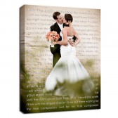 your wedding photo and words canvas
