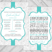 unique printable wedding program - diy wedding guest thank you message