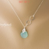 Personalized Infinity birthstone  necklace