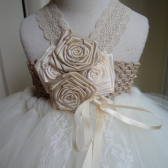 Champagne flower girl tutu dress
