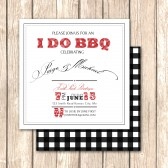Elegant BBQ Rehearsal Dinner Invitation