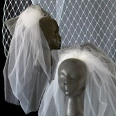 Embellished Fountain Veil