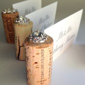 Rhinestone Wine Cork Place Card Holders
