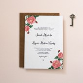 Vintage Botanical Wedding Invitation