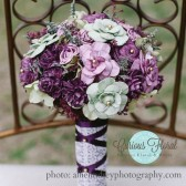 vintage bouquet radiant orchid and green