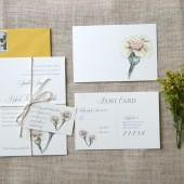 Vintage Inspired Floral Wedding Invitations