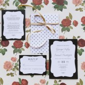 Vintage Frame Wedding Invitation
