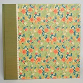 Photo Album Vintage Green Flowers