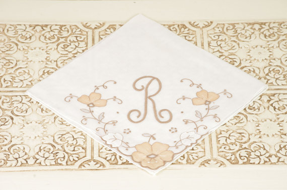 Vintage Embroidered Handkerchief (by Duryea Place Designs) via EmmalineBride.com - The Marketplace #handmade #wedding