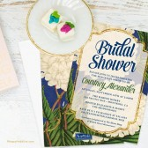 Vintage Hydrangeas Bridal Shower Invitations by The Spotted Olive