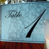 Vintage Vineyard Table Number Sign