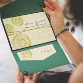 Elegant Hand-Stamped Steampunk Invitation Set