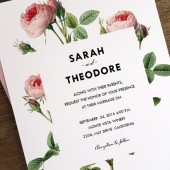 Wedding Invitation Template - Vintage Roses