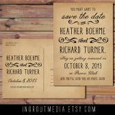 Vintage Rustic Save the Date