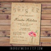 Vintage Floral Bridal Shower Invitation