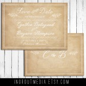 Vintage Lace Save the Date