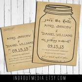 Mason Jar Vintage Save the Date