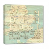wanderlust map canvas art unique couples gift