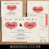 Rustic Hearts Invitation Suite