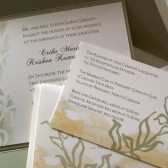 Watercolor Botanical Wedding Invitation
