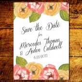 Floral Watercolor Save the Date
