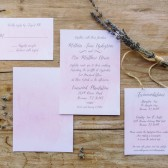 Watercolor Script Wedding Invitation