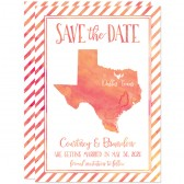 Watercolor Texas Shape Save The Dates by The Spotted Olive