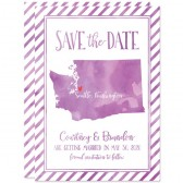 Watercolor Washington State Shape Save The Dates by The Spotted Olive