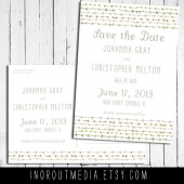 Watercolor Arrows Save the Date