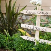 Wedding Directional Arrows Sign