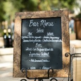 Rustic Chalkboard Bar Menu Sign