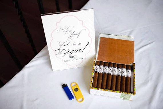 Wedding Cigar Labels (by Viva La Lovely via Emmaline Bride - The Marketplace) #handmade #wedding