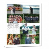 wedding canvas photo words