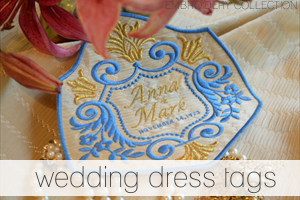 wedding dress tags