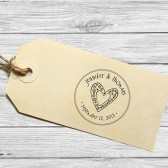Save the date favor wedding stamp