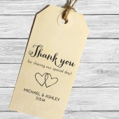 Custom wedding favor thank you stamp